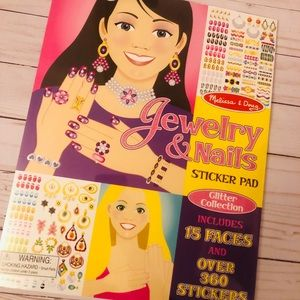 New Melissa and Doug jewelry & nail sticker book